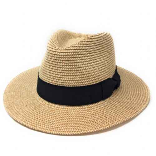 Straw Fedora Summer Hat - Wheat